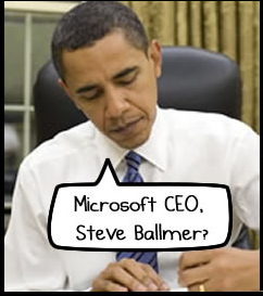 The Oatmeal : Obama et Ballmer