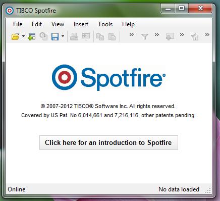 Tibco Spotfire - 8 - Enfin l'écran d'accueil!