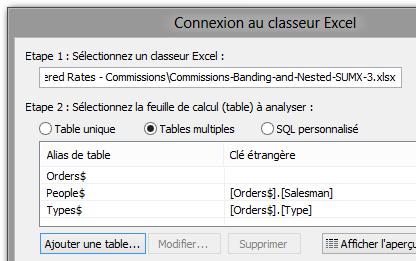 Première connection à Excel avec jointure