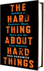 Couverture The Hard Thing About Hard Things