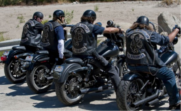 Photo des motards de Sons of Anarchy